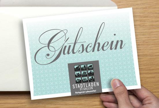 Geschenkgutscheine vom Stadtladen St.Gallen